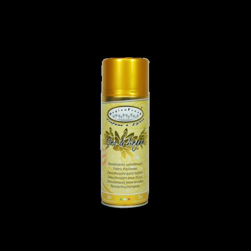 Hygienfresh Oro e Argan spray è un deodorante salvatessuti con speciale formula mangiaodori.