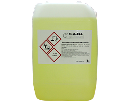 Ipoclorito di sodio stabilizzato kg.30