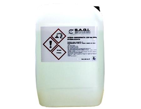 acqua ossigenata stabilizzata Sagi Group kg 25