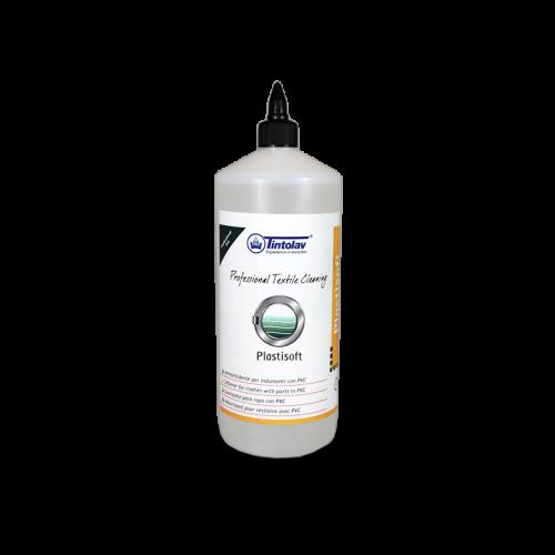 PLASTISOFT è un ammorbidente speciale per i tessuti che contengono PVC perchè durante il lavaggio a secco i materiali in PVC tendono ad indurirsi. Per ristabilire la morbidezza originale utilizzare PLASTISOFT durante il secondo bagno.