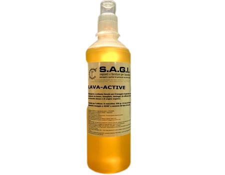 lava active detergente con alto potere sgrassante. da usare anche come presmacchiante
