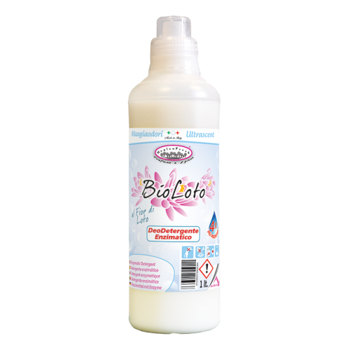 detergente enzimatico della Hygienfres al profumo di fior di loto
